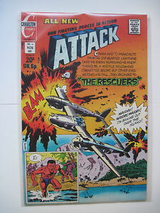 Attack #14 (Charlton, 11/73) VF The Rescuers/Jack Keller-a. Awesome!