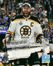 Boston Bruins Zeno Chara Stanley Cup Champs 8x10 Photo