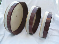 "Egyptian Deff Set Drum-Tambourine-3 Pieces 12""- 8.5"""