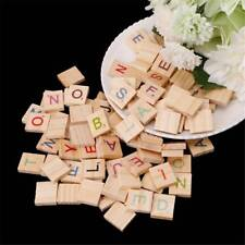 Wooden Scrabble Tiles Colorful Letters & Numbers For Crafts Wood Alphabet Toys