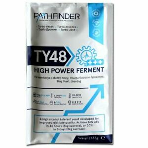 Pathfinder TY48 Fast Pure Turbo Yeast alcohol makes 14 or 20%abv