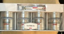 Rapala Stainless Steel Can Chiller Set of 4, with a Rapala Lure Can Opener. New