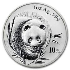 2003 China 1 oz Silver Panda BU (Frosted Bamboo, Sealed) - SKU#159475