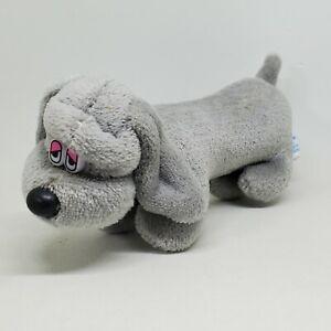 Vintage Dan Dee Dachshund Weenie Dog Small Mini Grey Puppy Plush 1987 Pound
