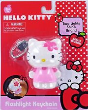 Hello KITTY Flashlight Keychain Keyring Sanrio Pink NEW Flower Battery Retired