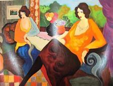 Iztchak Tarkay Large Hand Signed LE Serigraph Untitled Women living room art