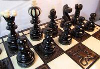 Schach Sehr schönes Schachspiel Pearl Large 42 x 42 cm Holz