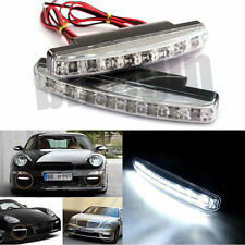 2X FEUX DE DIURNE JOUR ANTI-BROUILLARD 8 LED BLANC PR AUTO