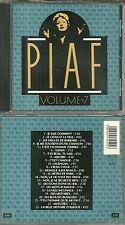 CD - EDITH PIAF : VOLUME 7 de L' INTEGRALE DE SES ENREGISTREMENTS 1946-1963