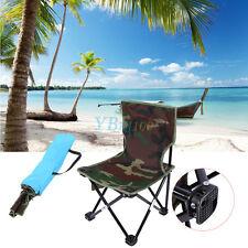 Portable Folding Chair Beach Seat for Hiking Fishing BBQ Picnic Camo W/ Bag DH