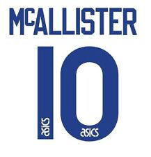 No 10 McAllister Leeds United Home 1994-1996 Football Nameset for shirt