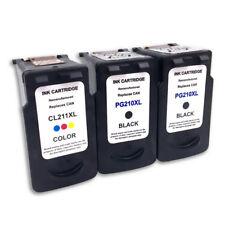 3PK PG-210XL CL-211XL Ink Cartridges For Canon PIXMA MP495 MX320 MX330 MX340