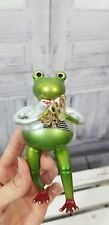 Holiday Christmas Ornament Frog Toad Musical Instrument Horn harp