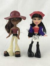 """McDonalds Bratz Doll 2003 Lot 5"""" Dollhouse Size Jade Sasha"""