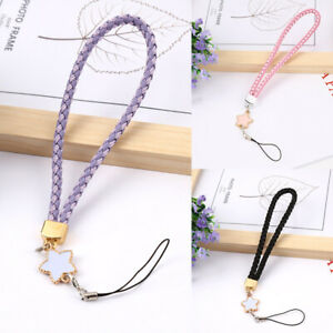 1Pc Woven Leather Star Mobile Phone Lanyard Cord Hand Wrist Straps Lanyard Gift