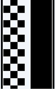 Ford Transit CUSTOM Checkered bonnet stripe kit / graphics stickers decals