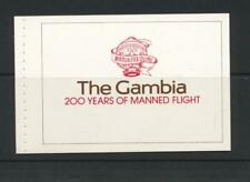Gambia 1983 SG 522-5 MS 526 Flight Bicentenary Booklet Aircraft  MNH