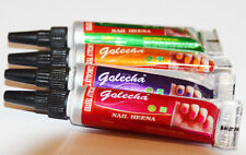 Golecha Multi Color Dark Nail Henna Tubes 12 Pcs
