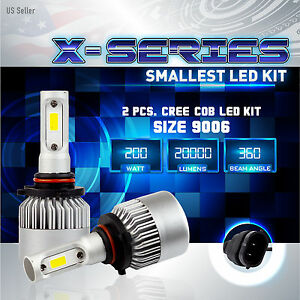 200W 20000LM CREE LED 6000K White Fog Light Conversion Kit Bulbs - 9006 HB4