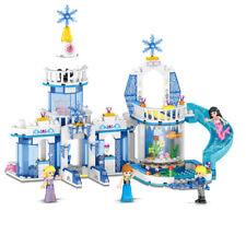 2in1 Pincess Girls Castle Street Building Blocks Figures Model Bricks Sets Toys
