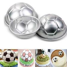 2Pcs 3D Aluminum Half Ball Football Cake Pan Tin Pastry Baking Mould Mold Tools