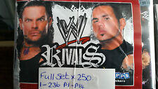 WWE RIVALS FULL SET OF STICKERS X250