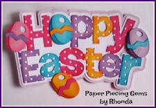 Hoppy Easter boy girl title scrapbook premade paper piecing by Rhonda