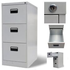 Home Office 3 Drawer Suspension Metal File Filing Documents Safe Storage Cabinet