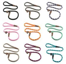 MENDOTA BRITISH STYLE SMALL SLIP LEADS DOG LEASH & COLLAR IN ONE MULTIPLE COLORS