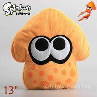 Splatoon Plush Orange Squid Toy Soft Stuffed Animal Doll 13'' Teddy Pillow