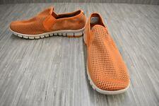 NoSox Wino Slip On Casual Shoe - Men's Size 9.5, Orange
