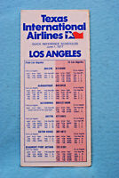 Texas International Airlines - Los Angeles - June 1, 1977