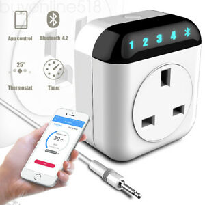 10A WiFi Smart Programmable Thermostat Plug Socket For Alexa Google Assistant