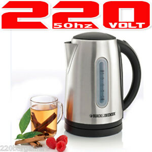 Black And Decker JC400 220 Volt Stainless Steel Cordless Kettle Not For USA