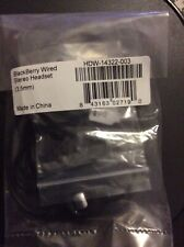 BlackBerry New Black Wired Stereo Headset HDW-14322-003 (3.5mm)