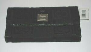 Liz Claiborne Wallet Clutch Black Heritage Mosaic Signature Fold-over Snap NWT