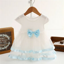 New Style Baby Girls Infant Tutu Bow Dress Jumpsuit Princess Party Dress Clothes