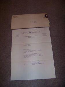 1952 The First National Bank Clifton Forge Virginia Ralph O. Artz Harriston VA