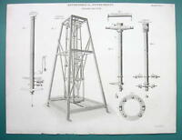 ASTRONOMICAL INSTRUMENTS Zenith Sector Telescope - 1820 Antique Print by A. Rees