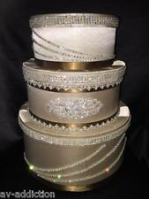 Wedding Money Box Sweet16 Money Gift  Bday Made with Swarovski Cappuccino New