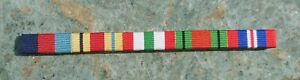 WW2 SEW-ON MEDAL RIBBONS/BADGE 1939-45 STAR;AFRICA STAR;ITALY STAR;DEF;WAR MEDAL