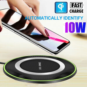 Fast Charging Qi Wireless Charger Pad Mat Dock for iPhone 11 Pro X 8 Samsung S10