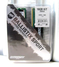 Ballistix Sport 16GB Kit (8GBx2) DDR3 1600 MT/s (PC3-12800) UDIMM 240-Pin Memory