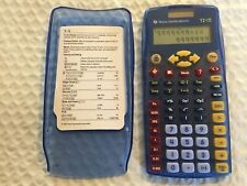 Texas Instruments TI-15 Explorer Elementary Calculator Transparent Blue
