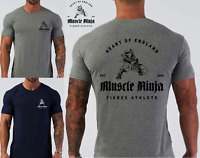 2021 Muscle Ninja Fierce Athelete Gym Bodybuilding Strongman Fitness T-Shirt.