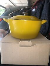 Tramontina 6.5 Qt Round Dutch Oven Yellow Enameled Cast Iron New