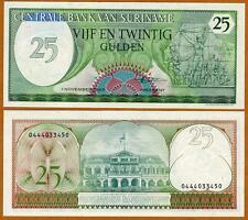 Suriname /  Surinam, 25 Gulden, 1985, Pick 127 (127b), UNC