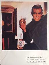 RETRO VINTAGE STILE 1966 JIM BEAM Pubblicità Sean Connery ART PRINT 30X 40 cm
