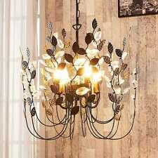 LED Hängeleuchte Amendera Pendellampe Blätter Metall Antik Lampenwelt Wohnraum
