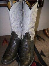 Vintage Custom Made Gray Cobra Cowboy Boots 8.5 D
